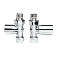 Apollo Valve Set - Chrome White Head Straight Valves