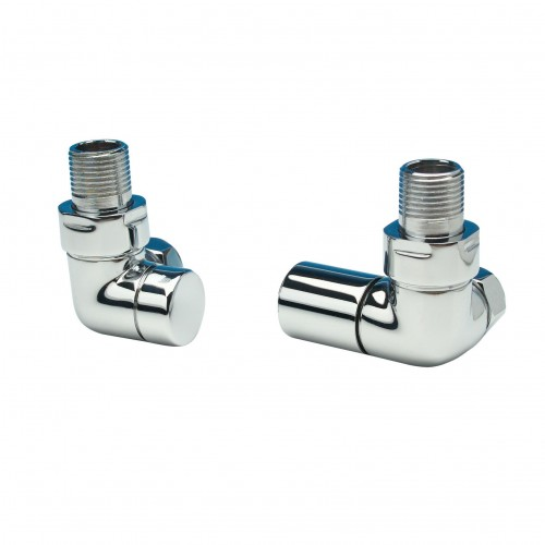 Apollo Valve Set - Contemporary Chrome Corner Valves