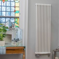 Bisque Classic Column Radiator In WHITE