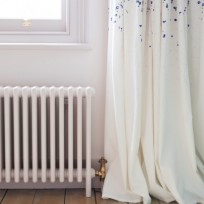 Bisque Classic Column Radiator With Feet In WHITE