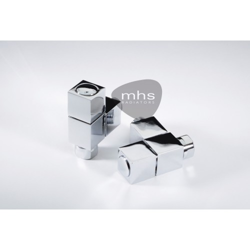 MHS Valve Set - Tekne Chrome Angled Manual Valves
