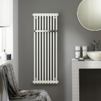 Zehnder Charleston Bar Towel Radiator In WHITE