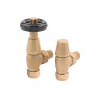 Rads 2 Rails Valves - Temple Angled TRV Brass Valves