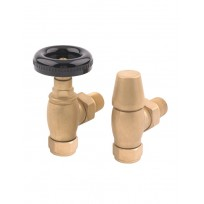Rads 2 Rails Valves - Temple Angled Manual Brass Valves