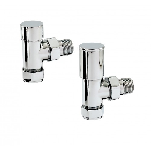 Zehnder Valve Set - ANGLED MANUAL Valves